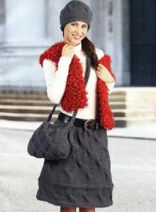 вязанные юбки на зиму фото