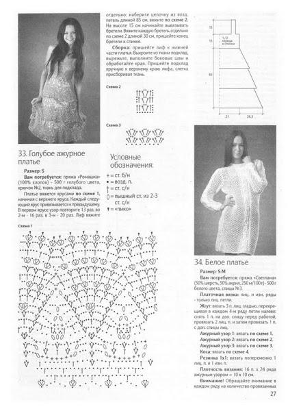 вязаное платье на лето 2