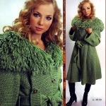 Вязаное теплое пальто