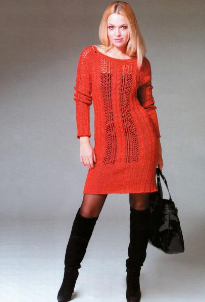 Пальто вязаное спицами для женщин
