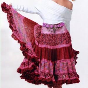 зимняя вязаная юбка