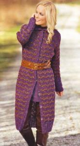вязание пальто