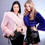 Вязанные пальто с мехом