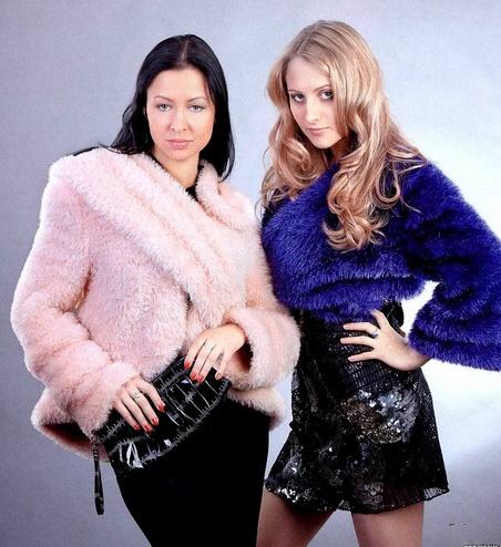 вязаное пальто с хмехом