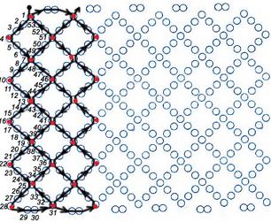 Схема плетения широких браслетов