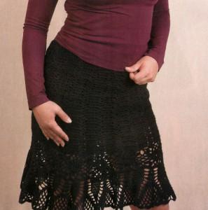 ажурные юбки спицами