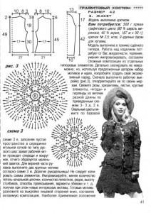 схема вязания юбки спицами 1