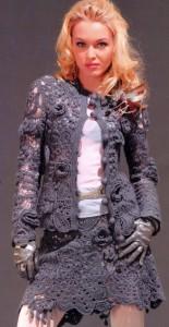 схема вязания юбки спицами
