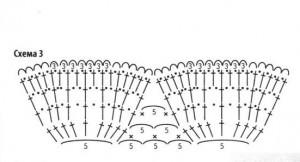 вязание юбки крючком 3