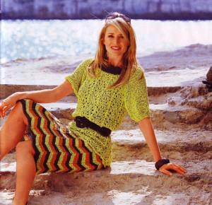 вязание юбки спицами 2012