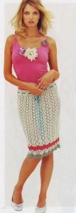 вязание юбки спицами с описанием 1