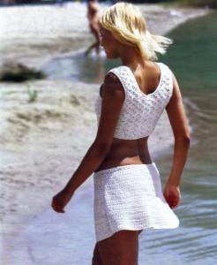 вязание крючком для женщин юбки