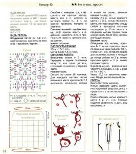 вязание крючком юбки схемы 1