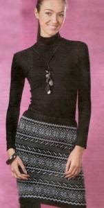 вязание на спицах юбки