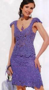 вязанные спицами юбки женские