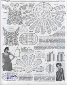 вязанные спицами юбки женские 3