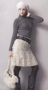 вязанные юбки на спицах