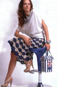 вязанные летние юбки