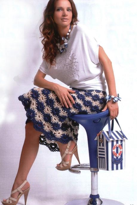 Вязанные длинные юбки схемы описания