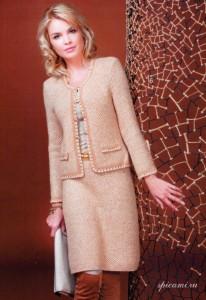вязаные юбки спицами 2012