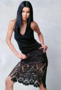 вязаные короткие юбки