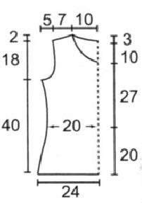 вязание крючком майки схемы