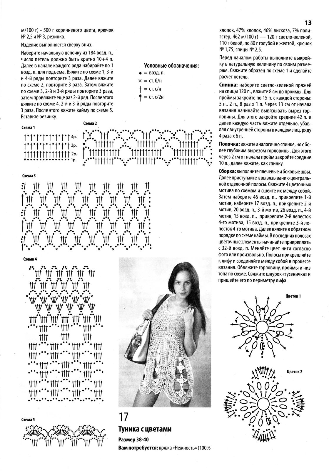 Схема вязания юбки для полных крючком