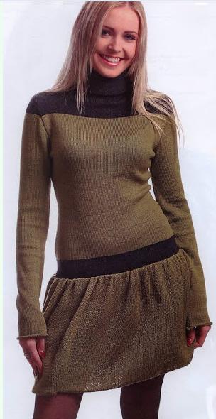 Платья вязанные спицами