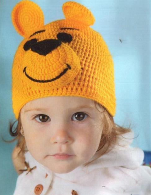 вязание крючком шапочки детям