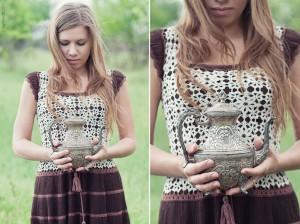 вязание крючком красивого платья