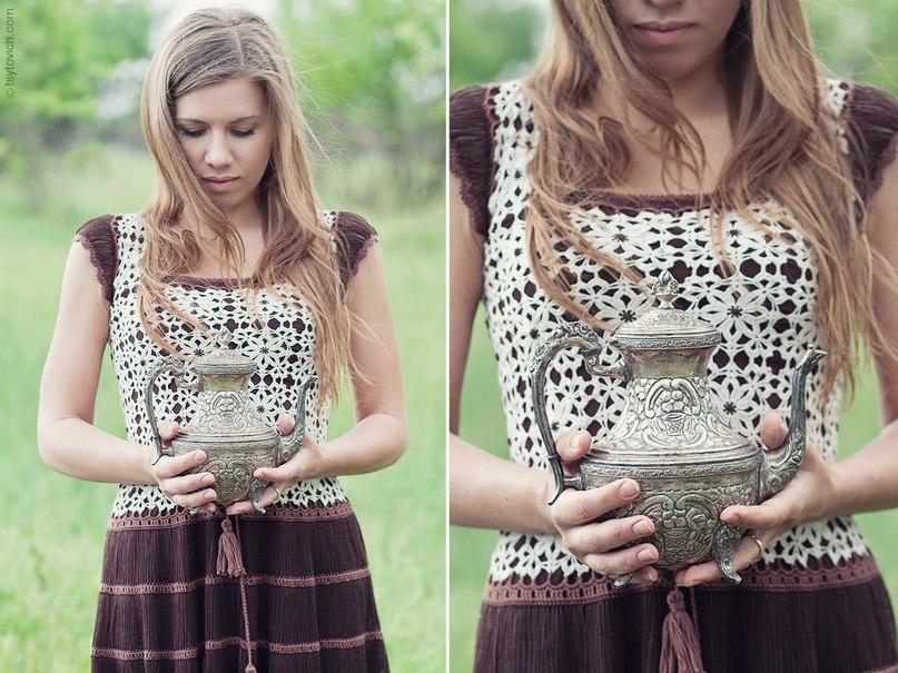 Платье вязаное крючком коричневое