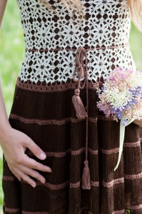 вязание кючком платья на лето