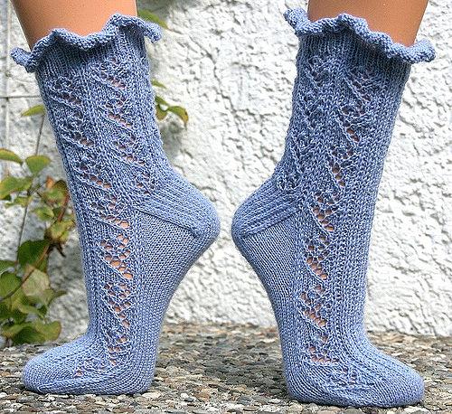 Ажурные носки спицами схемы Узоры для носков