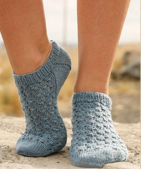 Вязание спицами - ажурный пуловер - woman7 ru