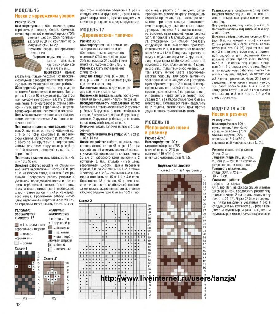 Вязания мужских носков крючком схемы и описание