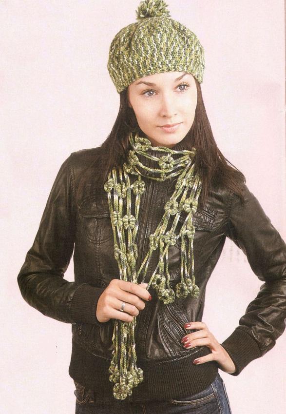 вязание шапок с помпонами
