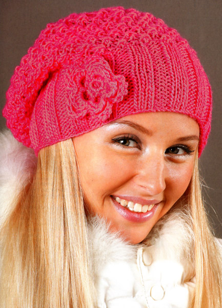 вязание шапок женских