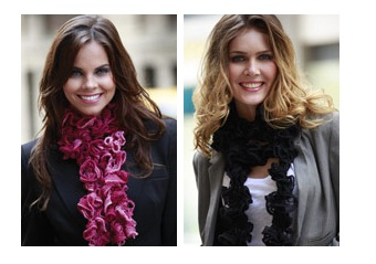 вязание шарфиков из ленточой пряжи