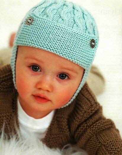 как вязать шапки для детей