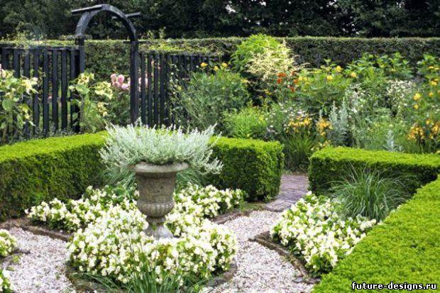 сад в белом стиле