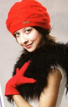 шапки вязаные спицами с описанием красного цвета