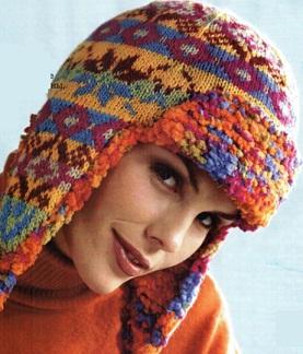 шапки вязаные женские схемы жаккардовый узор