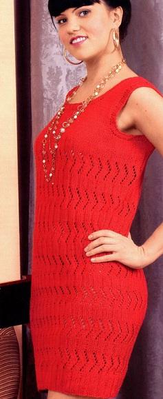 модели женских вязаных платьев