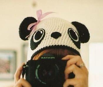 шапка панда схема вязания крючком