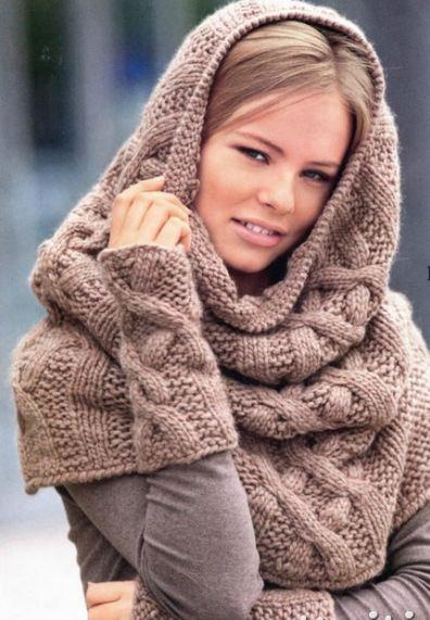 шарф хомут схема вязания фото