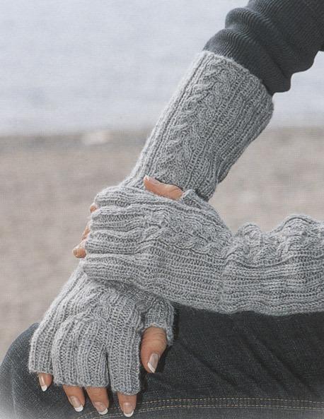 схема вязания длинных перчаток