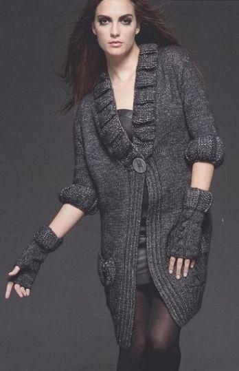 схема вязания перчаток без пальцев спицами