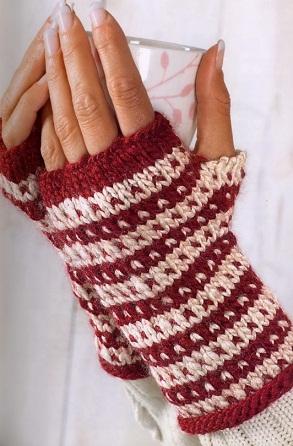 схема вязания перчаток