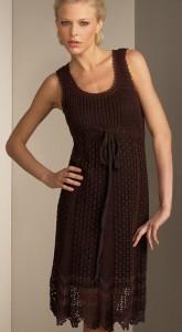 вечернее платье вязанное крючком