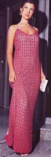 вечернее платье вязанное крючком фото